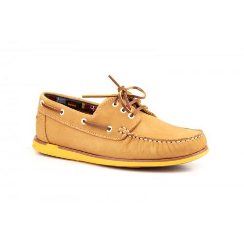 Nautical Man Camel Leather