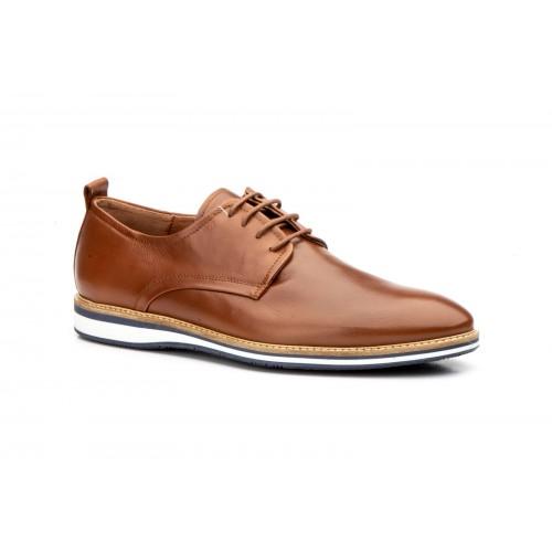 Zapatos Casual Hombre Derby Piel Marrón