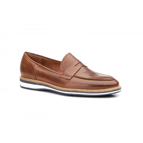 Zapatos Casual Hombre Piel Marrón Antifaz