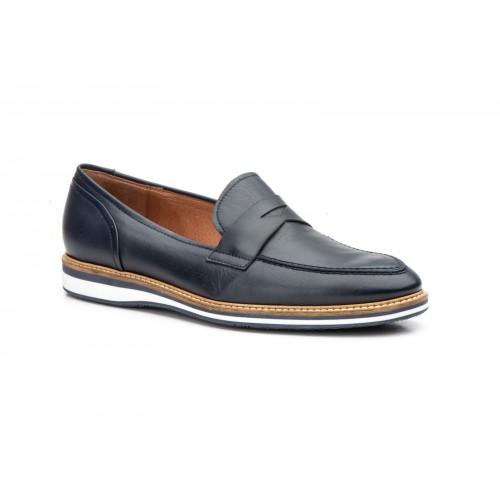 Zapatos Casual Hombre Piel Marino Antifaz