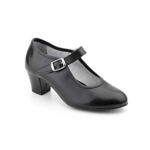 Zapato Mujer Negro Baile Flamenco y Sevillana