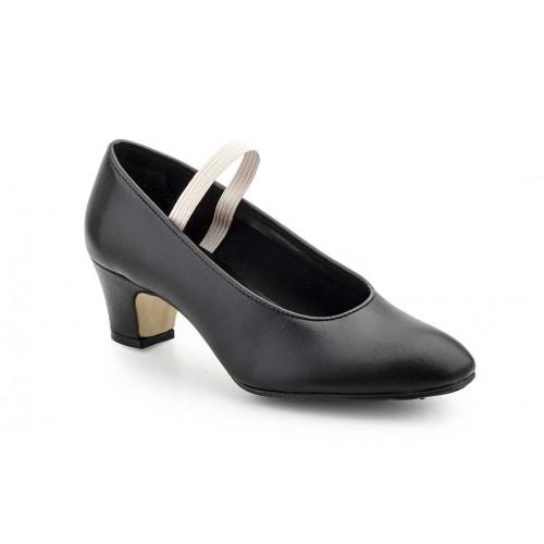 Zapato Mujer Piel Negro Baile Profesional
