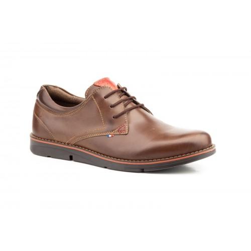 Zapatos Hombre Blucher Piel Marrón