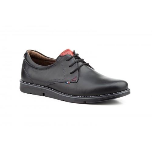 Zapatos Hombre Blucher Piel Negro