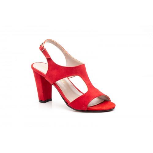Sandalias Piel Mujer Rojo Muy elegantes