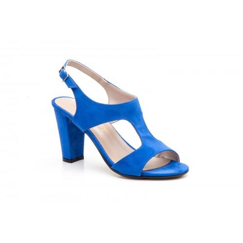 Sandalias Piel Mujer Azul Muy Elegantes