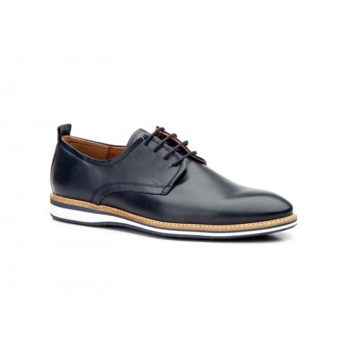 Zapatos Casual Hombre Derby Piel Marino