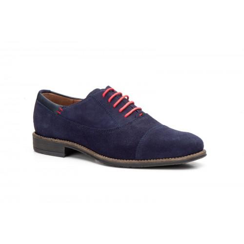 Zapatos Hombre Oxford Piel Marino