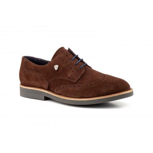Zapatos Hombre Derby Piel Marrón