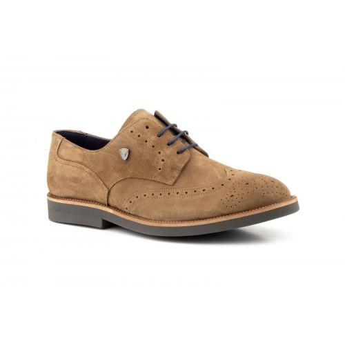 Zapatos Hombre Derby Piel Taupe