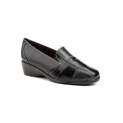 Zapatos Comodón Mujer Piel Negro
