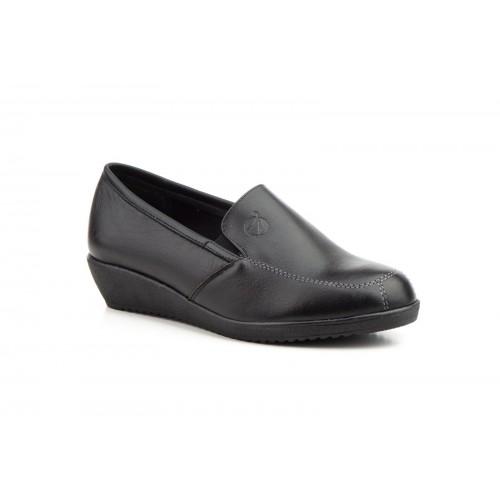 Zapatos Mujer Cuña Piel Negro