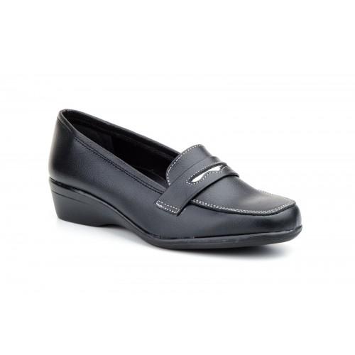 Zapatos Mocasines  Mujer Piel Antifaz Negro