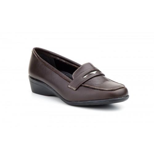 Zapatos Mocasines  Mujer Piel Antifaz Marrón