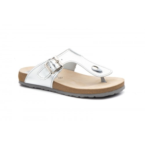Sandals Bios Leather Woman Silver Comodisimos