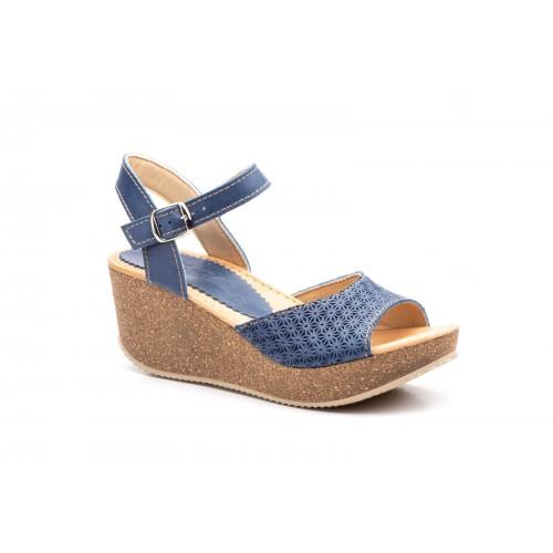 Women's Wedge Sandal Blue Jeans