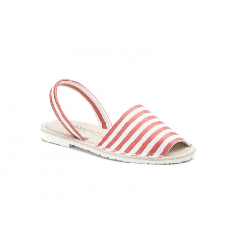 Avarca Menorquina Ibicenca For Women With Red Stripes