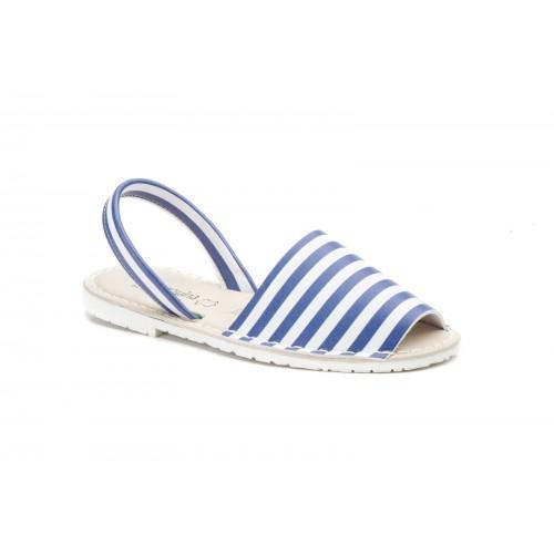 Avarca Menorquina Ibicenca For Women Blue Stripes