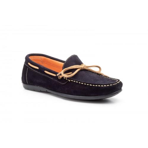 Nautical Kiowa Shoes For Men With Laces Blue Marine Split...