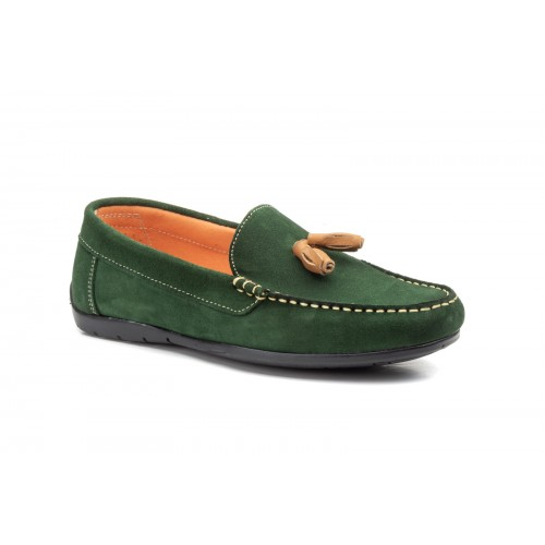 Men's Nautical Kiowa Shoes With Tassels Bosco Split Leather