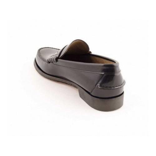 Zapato Castellano De Cuero Negro Suela Aj5rl34 nwX8kNP0OZ