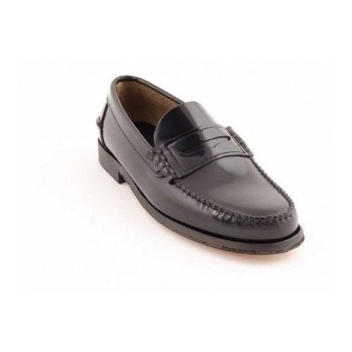 Zapato Castellano Negro Suela De Cuero