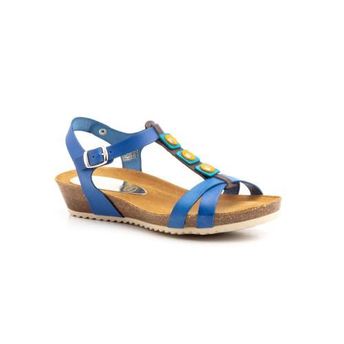 Sandalia de Mujer Azul de piel