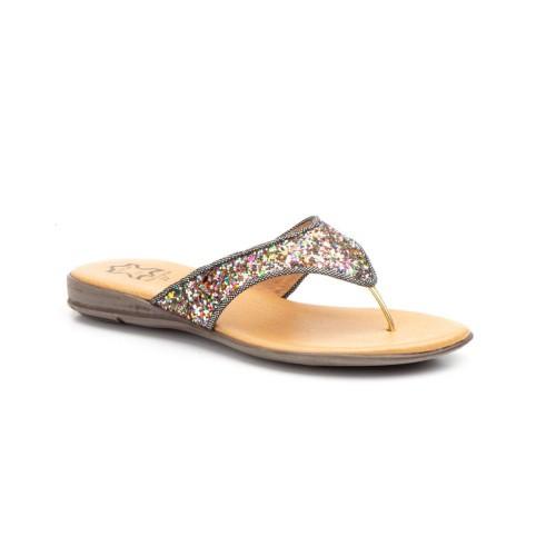 Sandalias Esclava Mujer Glitter Multi