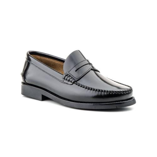 Zapatos Hombre Piel Negro Castellano
