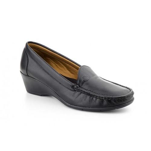 Zapato Mocasín Mujer Piel Negro