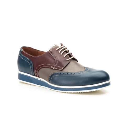 Zapatos Hombre Piel Marino Multi Keelan