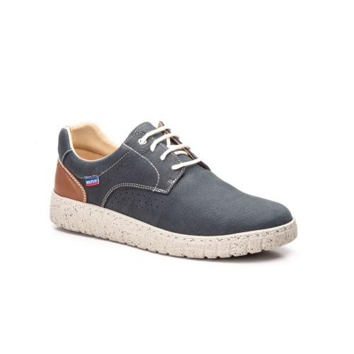 Zapatos Hombre Piel Marino Cordones Route 83