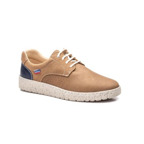 Zapatos Hombre Piel Nougete Marrón Cordones Route 83