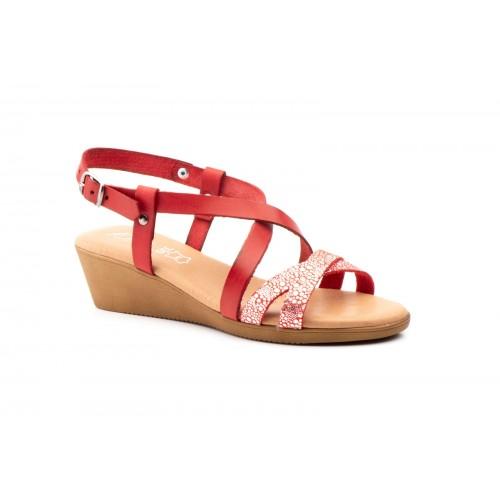 Women's Wedge Sandal Red Fantasy