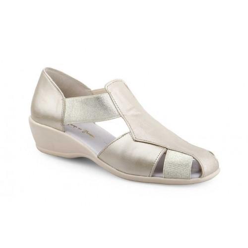 Sandal Woman Roman Skin Platinum