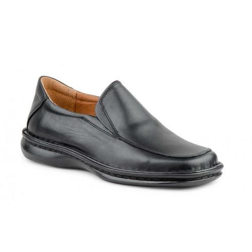 Zapatos Crispinos Hombre Piel Negro Suela Cosida