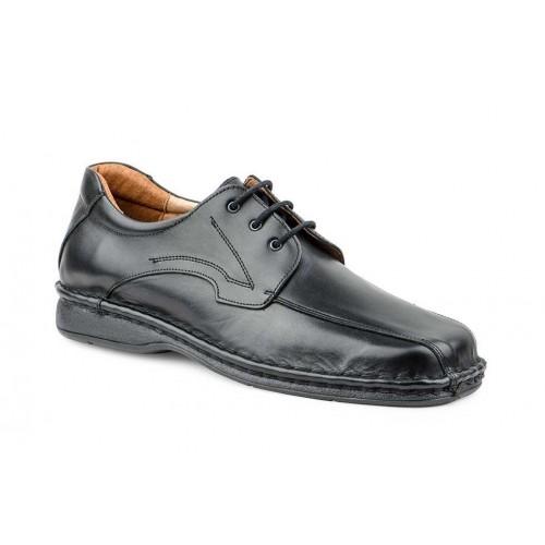 Zapato Crispinos Hombre Piel Negro Suela Cosida
