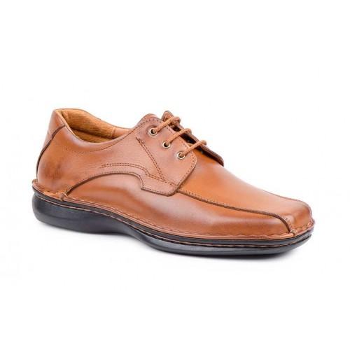 Zapatos Crispinos  Hombre Piel Marrón Suela Cosida